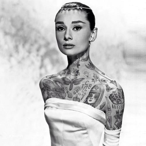 e8cd4a75b1 Hogyan fest Audrey, Marilyn, Diana tetőtől talpig tetoválva?   THE ...